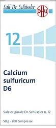Calcium sulfuratum 12 schuss 6 dh 50 g