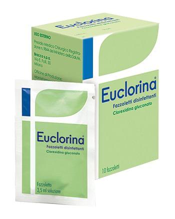 Disinfettante fazzoletto per medicazione euclorina 10 pezzi
