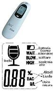 At126 etilometro elettronico rilevazione alcool nell'espirato
