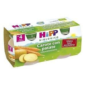 HIPP BIO OMOGENIZZATO CAROTE/PAT 2X80G