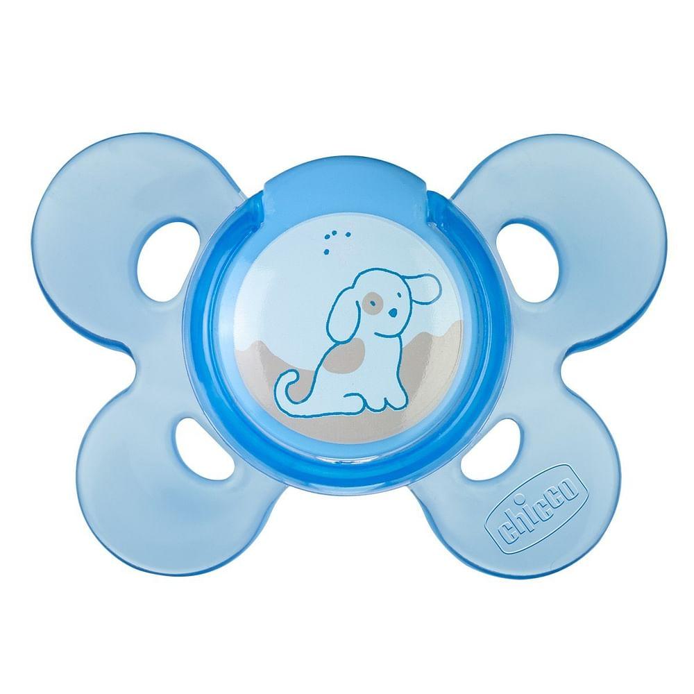 Chicco succhietto ph comfort blu silicone 0 mesi + 1 pezzo caucciu'