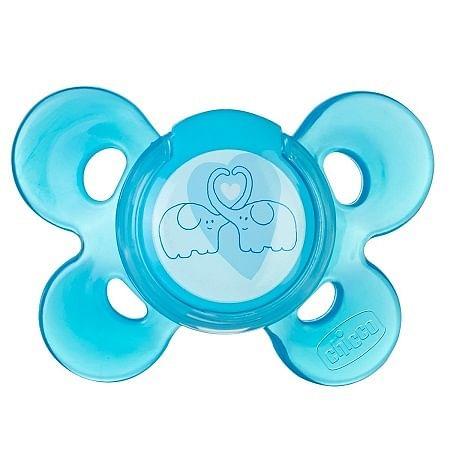 Chicco succhietto ph comfort blu silicone 4 mesi + 1 pezzo caucciu'