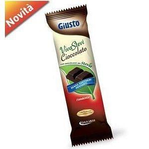 Giusto senza zucchero cioccolato con stevia  fondente 35 g