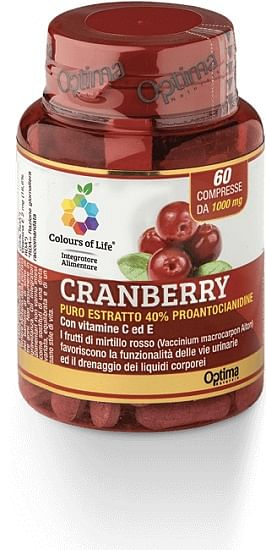 Colours of life cranberry con vitamina c e 60 compresse 1000 mg