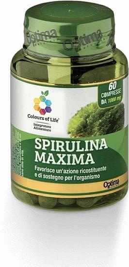Colours of life spirulina maxima 60 compresse 1000 mg