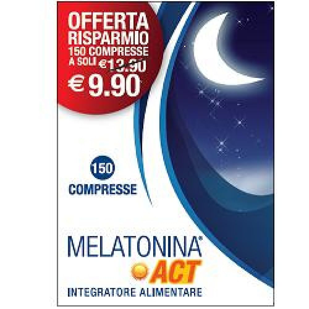 Melatonina act 1 mg 150 compresse