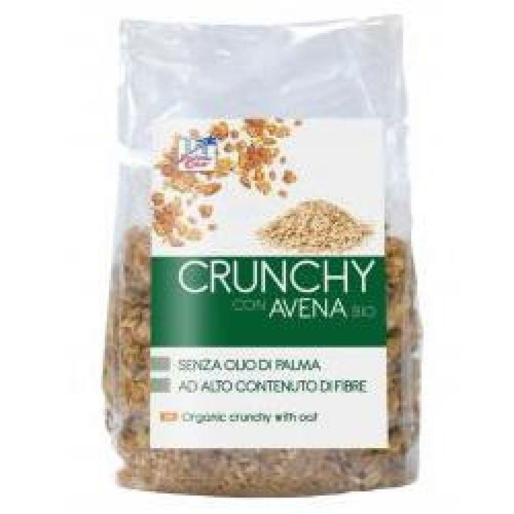 Fsc crunchy con avena bio ad alto contenuto di fibre con olio di girasole senza olio di palma 375 g