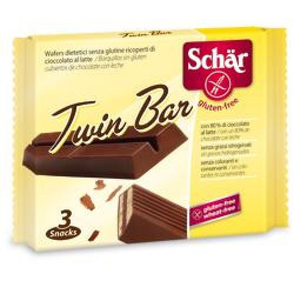 Schar twin wafer cioccolato al latte  3 barrette
