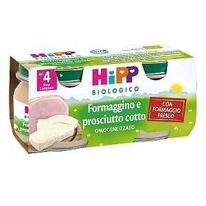 Hipp bio hipp bio omogeneizzato formaggino prosciutto 2x80 g
