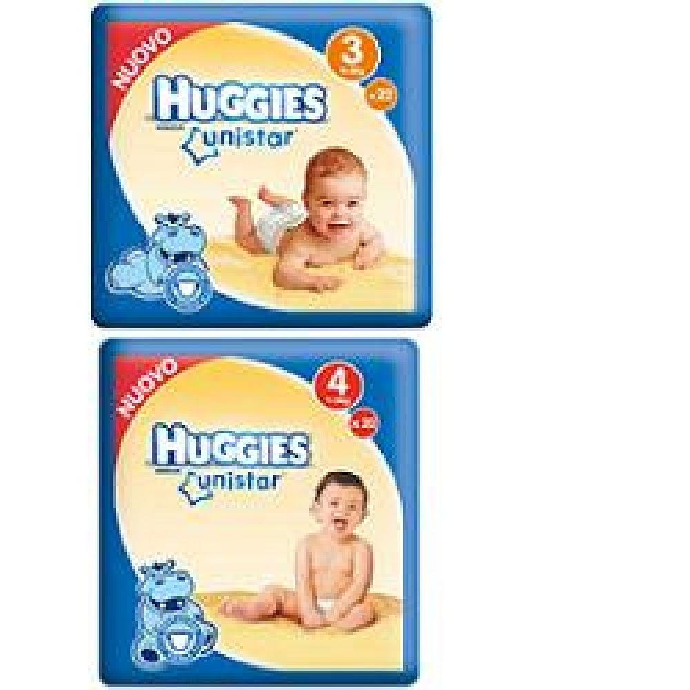 Pannolino huggies unistar maxi 4 7/18 kg 18 pezzi