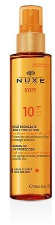 Nuxe sun huile bronzante spf10