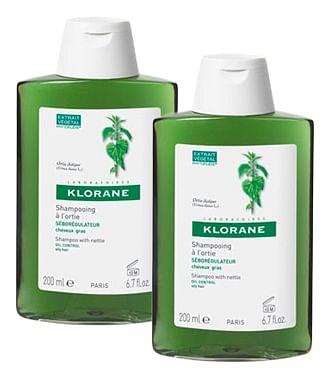 Klorane duo shampoo secco all'ortica 2 x 150 ml