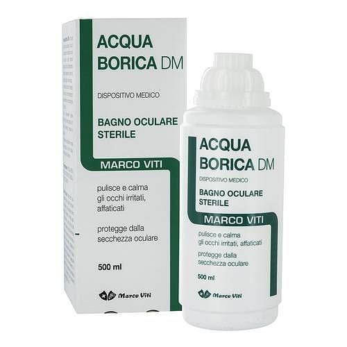 Acqua borica per bagno oculare sterile 500 ml 933201752