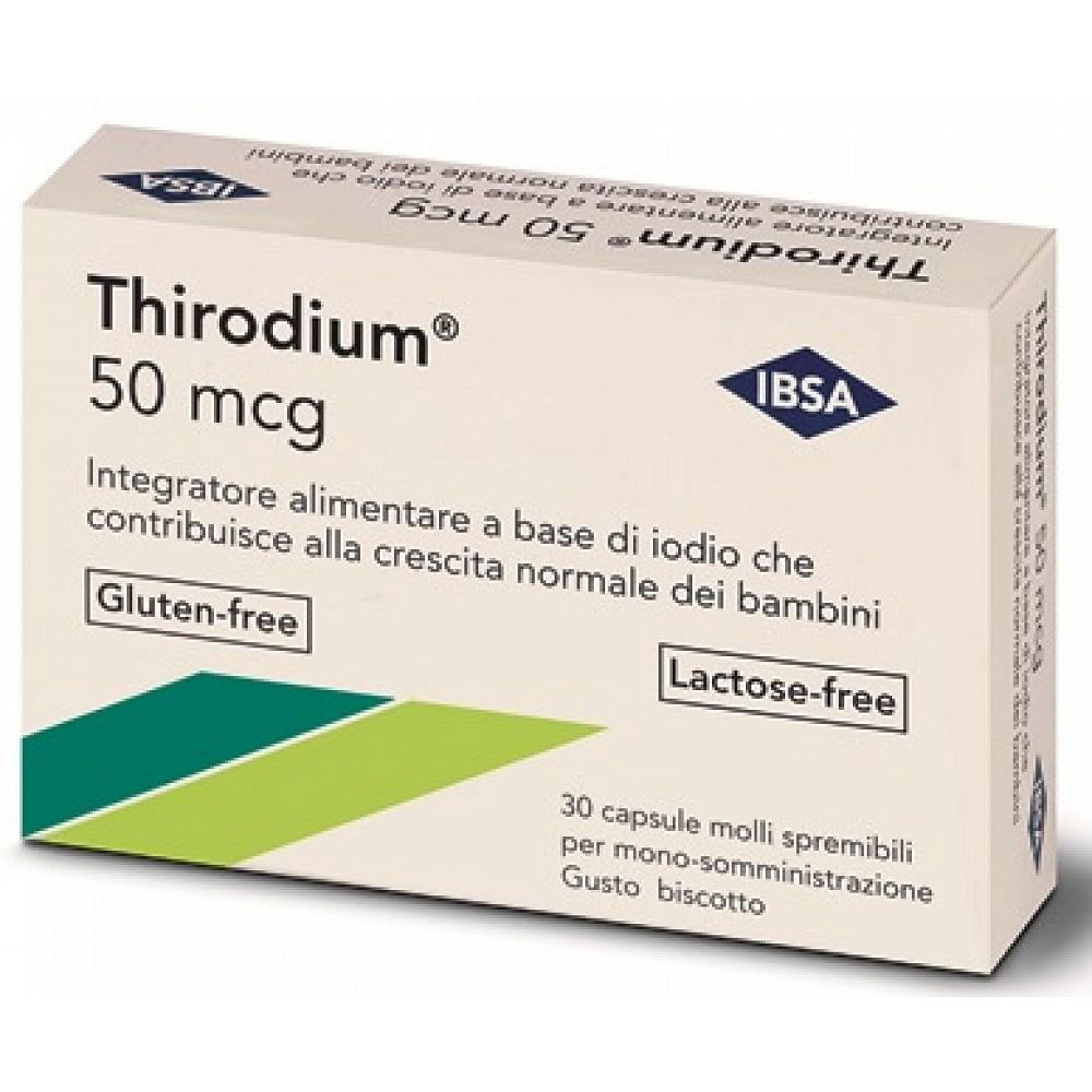 Thirodium 50mcg 30 capsule spremibili mono-somministrazione7,54 g