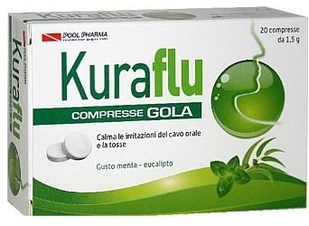 Kuraflu gola eucalipto 20 compresse 1,5 g