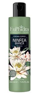 Euphidra crema corpo idratante ninfea in flacone con etichetta