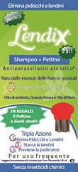 Lendix shampoo plus 150 ml + pettine anti pidocchi 2 in 1