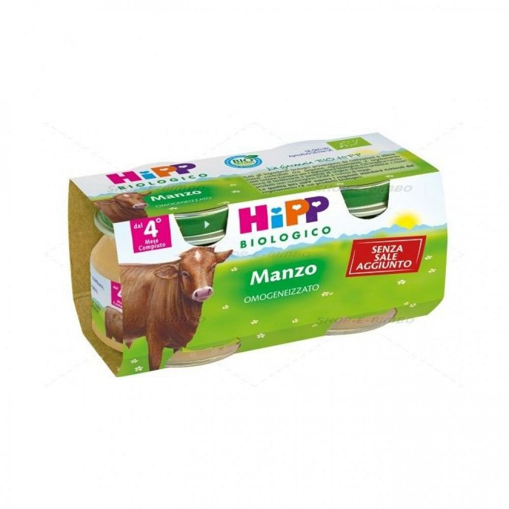 HIPP BIO OMOGENIZZATO MANZO 2X80G