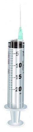 Siringa pic da 20 ml 18 gauge 1 1/2 cono eccentrico