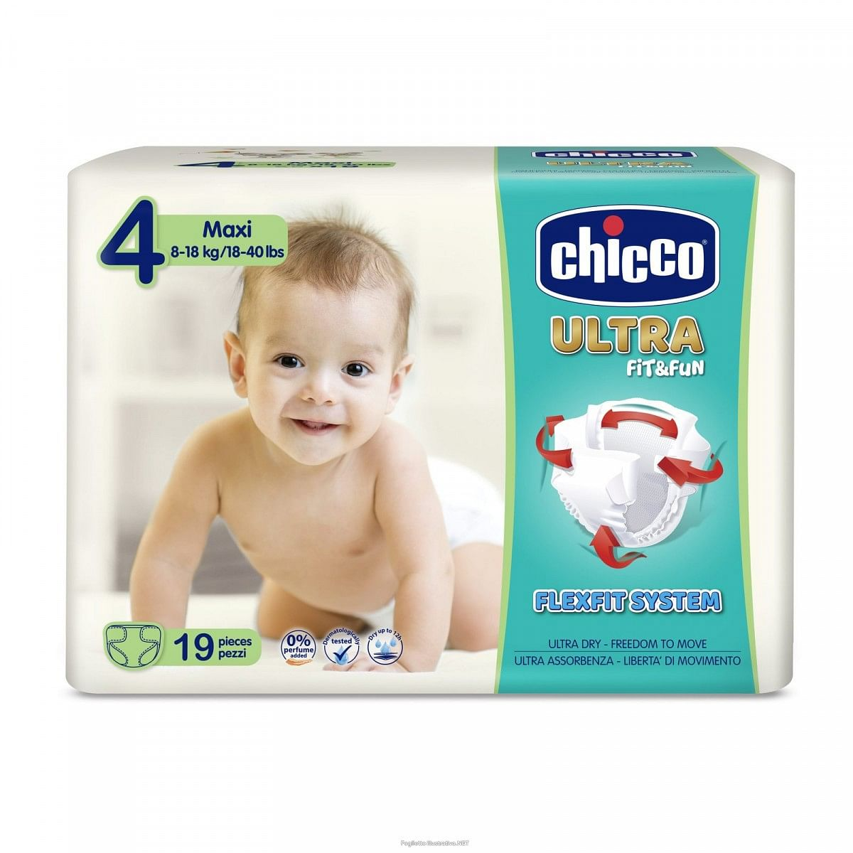 CHICCO PANNOLINO ULTRA MAXI 19PZ