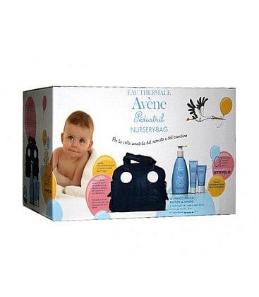 Eau thermale avene pediatril borsa mamma kit crema idratante cosmetica 50 ml + crema cambio 50 ml + gel bagno 500 ml + borsa mamma omaggio